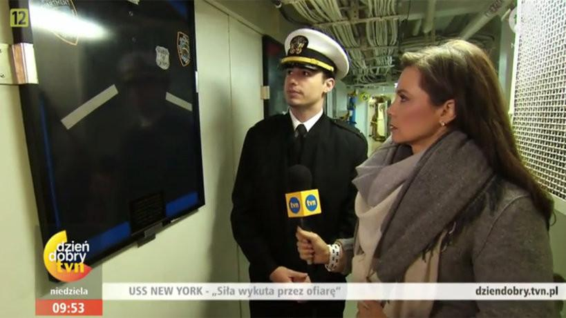 Kinga Rusin na USS New York!