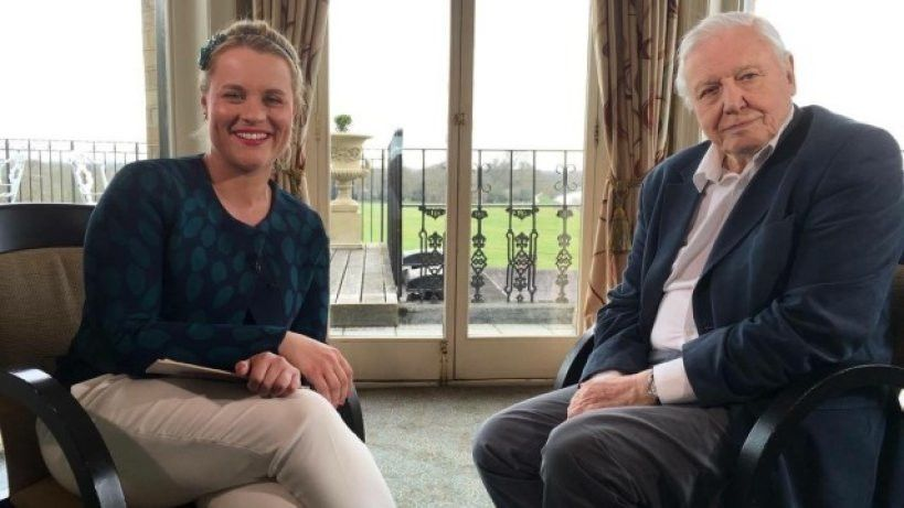 David Attenborough i Anna Senkara